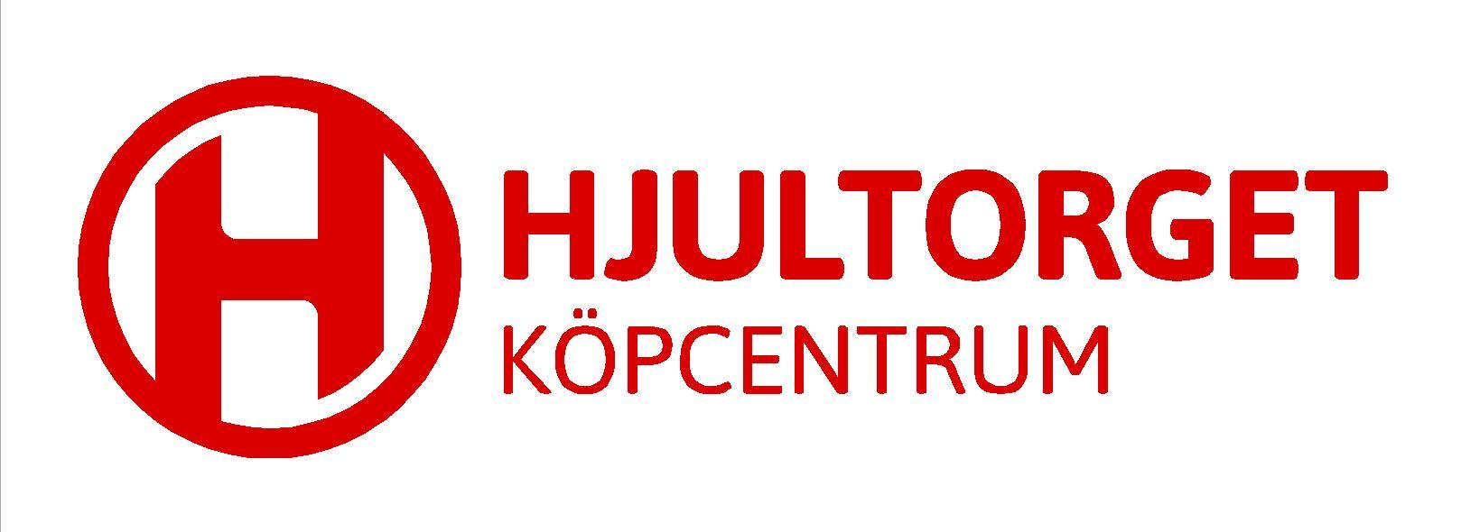 Original logga Hjultorget röd med vit bakgrund